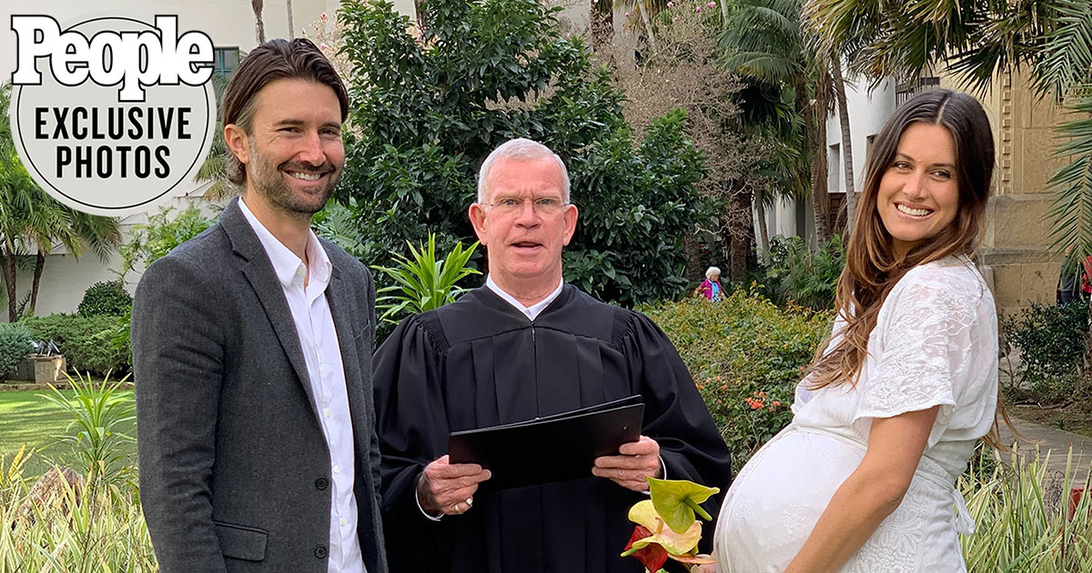 Brandon Jenner Marries Pregnant Fiancée Cayley Stoker | PEOPLE.com