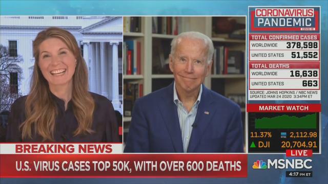 Biden's Bizarre Nicolle Wallace Interview: Alternately Goofy, Choked-up